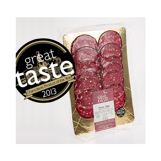 Great Glen Game Venison Salami with Green Peppercorns