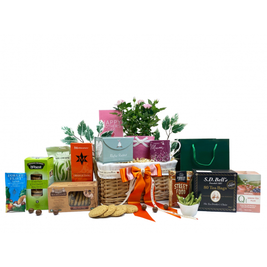 Mother's Day Flowers & Tea Gift Basket