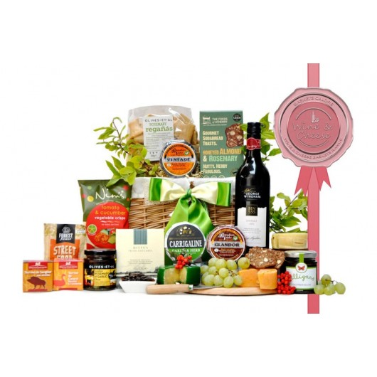 Sunny Cheese and Wine Gift Basket
