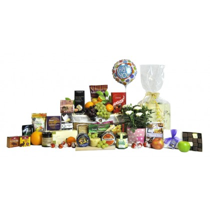 Floral and Fruit Thank You Basket