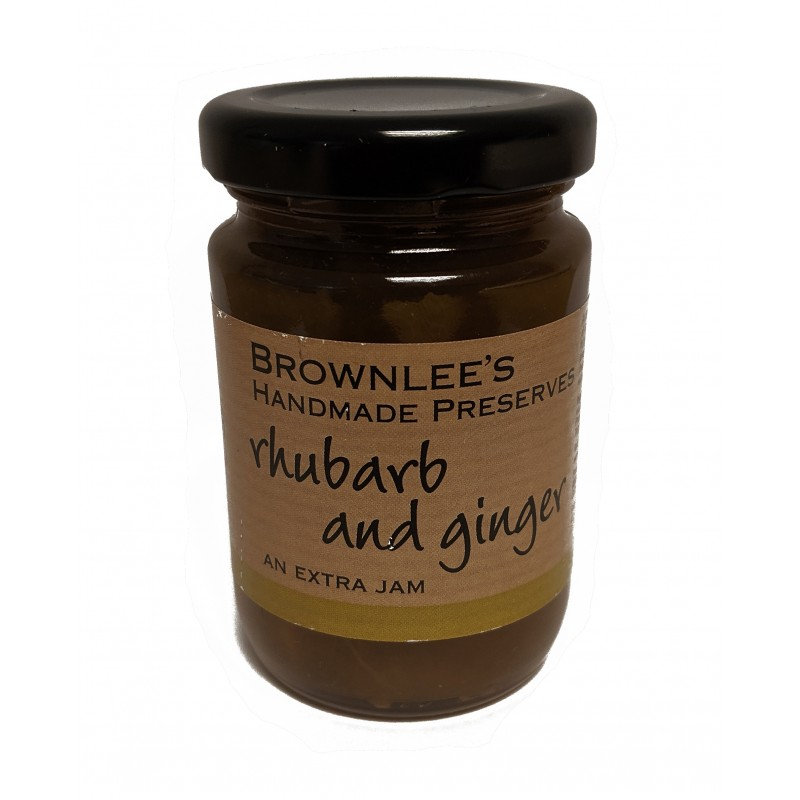 Brownlees Co. Armagh Preserves Rhubarb and Ginger Jam 110g