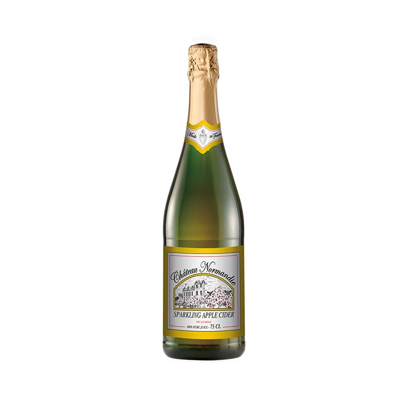 French Sparkling Apple Cider Chateau Normandie (non alc) 75cl