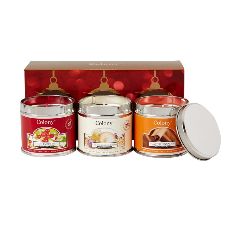 colony candle xmas tin candle single