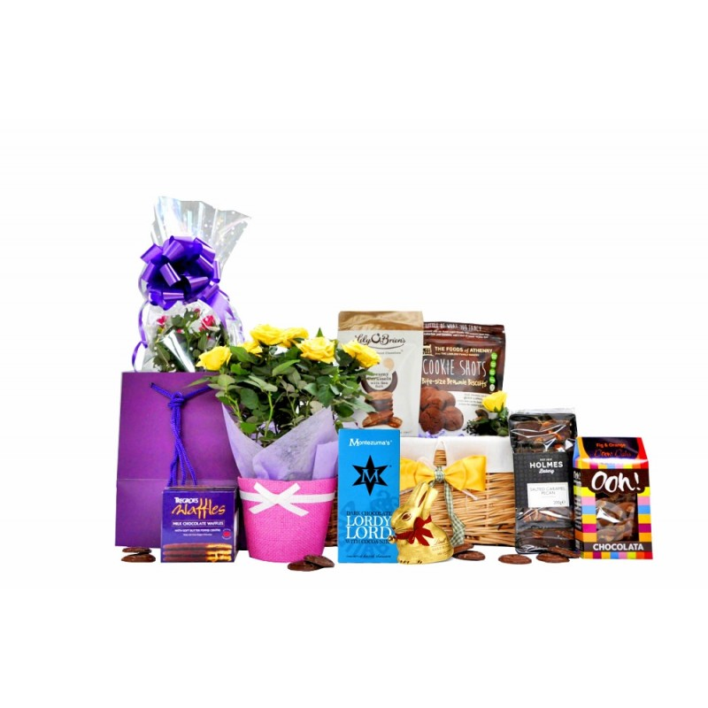 Flowers & Chocolate Gift Basket