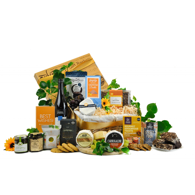 Irish Cheese and Wine Hamper
