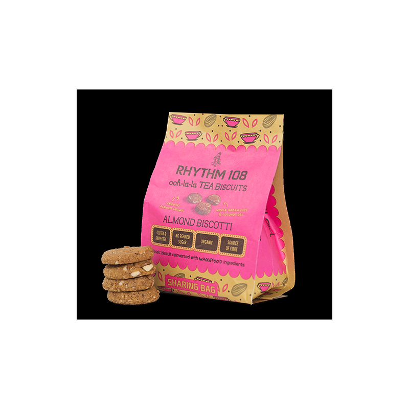 Rhythm 108 Ooh-la-la Tea Biscuits Almond Biscotti Sharing Bag 135g