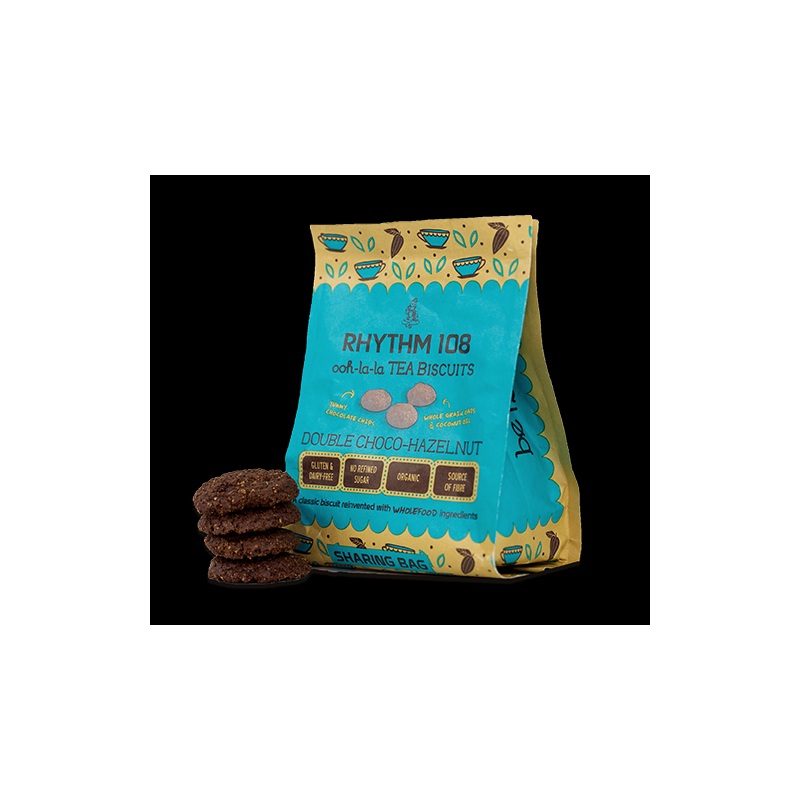 Rhythm 108 Ooh-la-la Tea Biscuits Double Choco Hazelnut Sharing Bag 135g