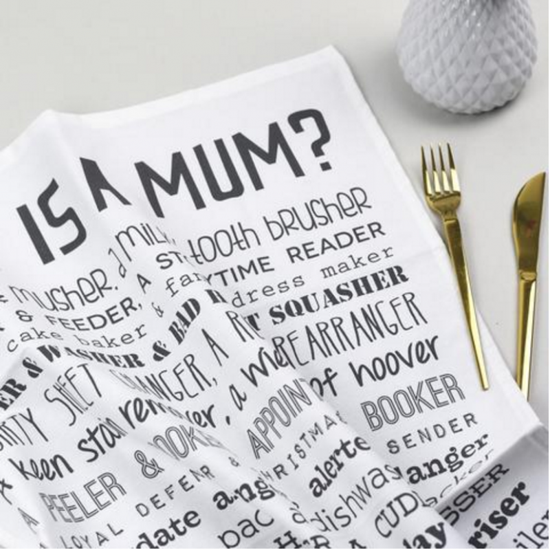 bespoke verse what is a mum tea towel