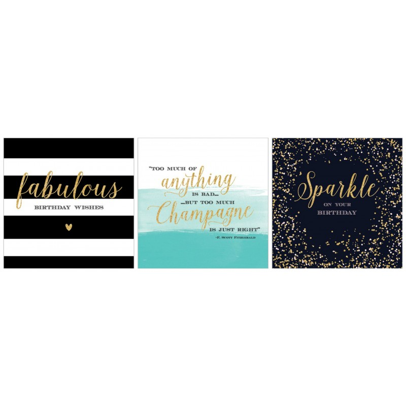 Sparkle Birthday Cards